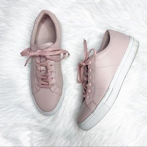 Greats Royal Blush Pink Perforated Lace Sneakers